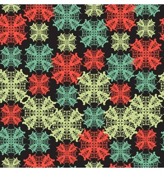 seamless pattern with abstract snowflake vector image