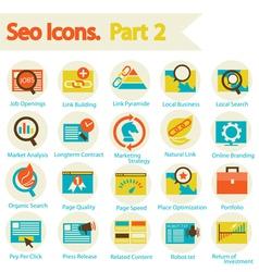 Seo icon set part 2 vector