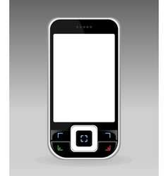 black cellular telephone with the white screen a v vector image vector image
