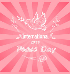 International peace day logo vector