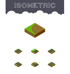 Isometric way set of single-lane cracks vector