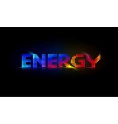 Neon Energy Background vector image