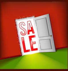 open door bright sale concept vector image vector image