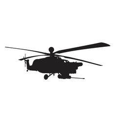 russian military helicopter vector image vector image