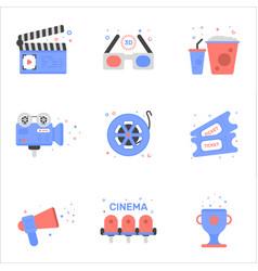 cinema of tickets icon in flat vector image vector image