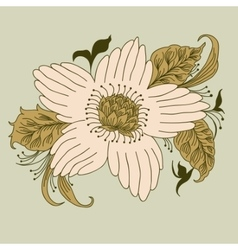 flower hand drawn doodle vector image
