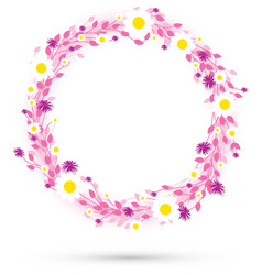 pink round flowers vector image