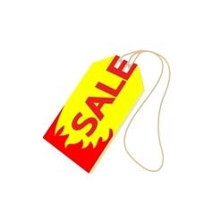 Sale tag icon cartoon style vector image