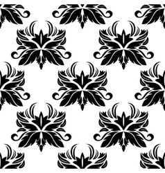 Seamless pattern with black flourishes vector image vector image