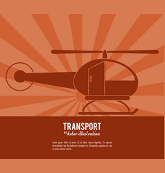 transport helicopter vehicle design vector image