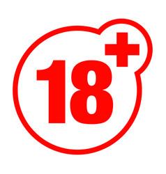 A eighteen years over icon set vector