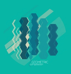 abstract background with geometric composition vector image