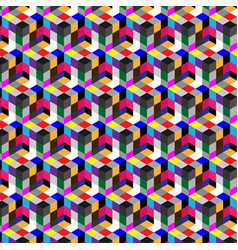 Abstract cube pattern colorful design geometric vector