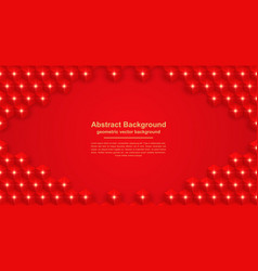 abstract red background with hexagon shape vector image