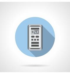 Air temperature control round flat icon vector image