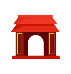 asian gate icon flat style vector image