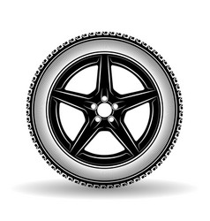 auto wheel black vector image