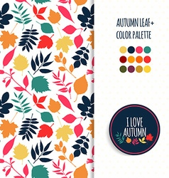 Autumn seamless patternColor autumun pallet vector