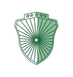 Badge shield symbol vector