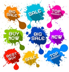 Blots Splashes Sale Icons vector image