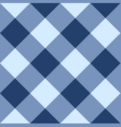 blue checkered seamless background vector image