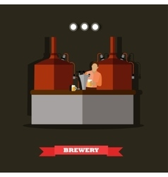 Brewery and beer restaurant concept vector image
