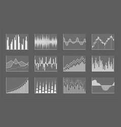 business charts collection vector image