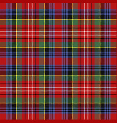 caledonia tartan scottish cage background vector image