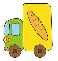 Childrens drawing van vector image