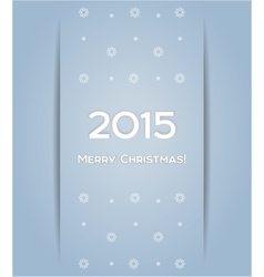 Christmas background snowflake 2015 vector image