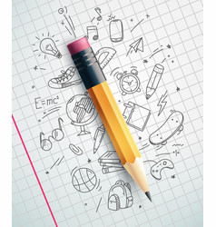 Classic pencil education concept vector