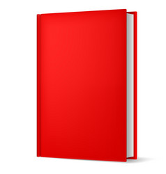 classic red book in front vertical view isolated vector image