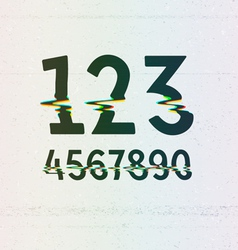 CMYK Print Distortion Digits vector image