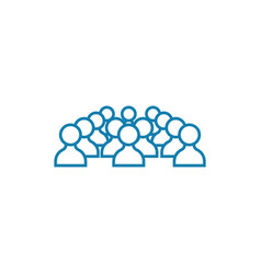 Conference participants linear icon concept vector