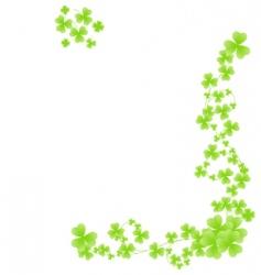 Corner shamrock pattern vector