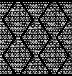 cross embroidery seamless pattern vector image