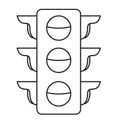 crosswalk semaphore icon outline style vector image