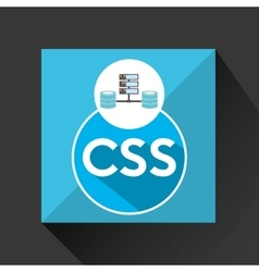 css language data base storage vector image