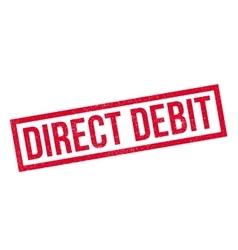 Direct Debit rubber stamp vector
