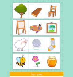 Educational children game logic game for kids vector