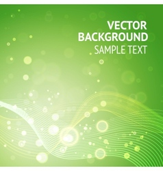 Elegant green background vector image