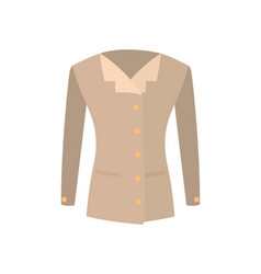 femae jacket double-breasted with buttons vector image