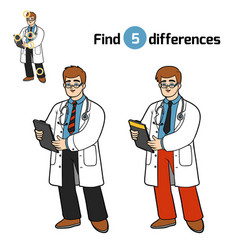 Find differences doctor vector