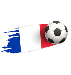 flag of france and soccer ball of football symbol vector image