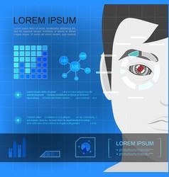 flat modern technology template vector image