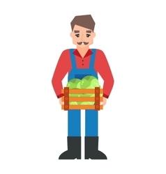 Funny farmer character vector image
