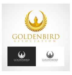 golden bird symbol vector image