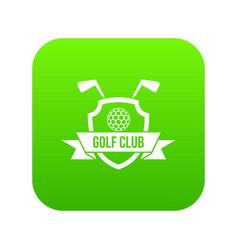 golf club emblem icon digital green vector image