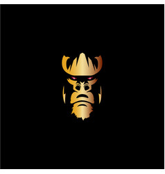 gorilla icon logo vector image