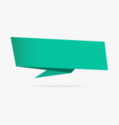 green sea banner origami ribbon paper infographic vector image